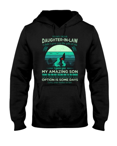 T-SHIRT - TO MY DAUGHTER-IN-LAW - WOLF - CIRCUS