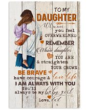 TO MY DAUGHTER - HUGGING - WHENEVER YOU FEEL 16x24 Poster front