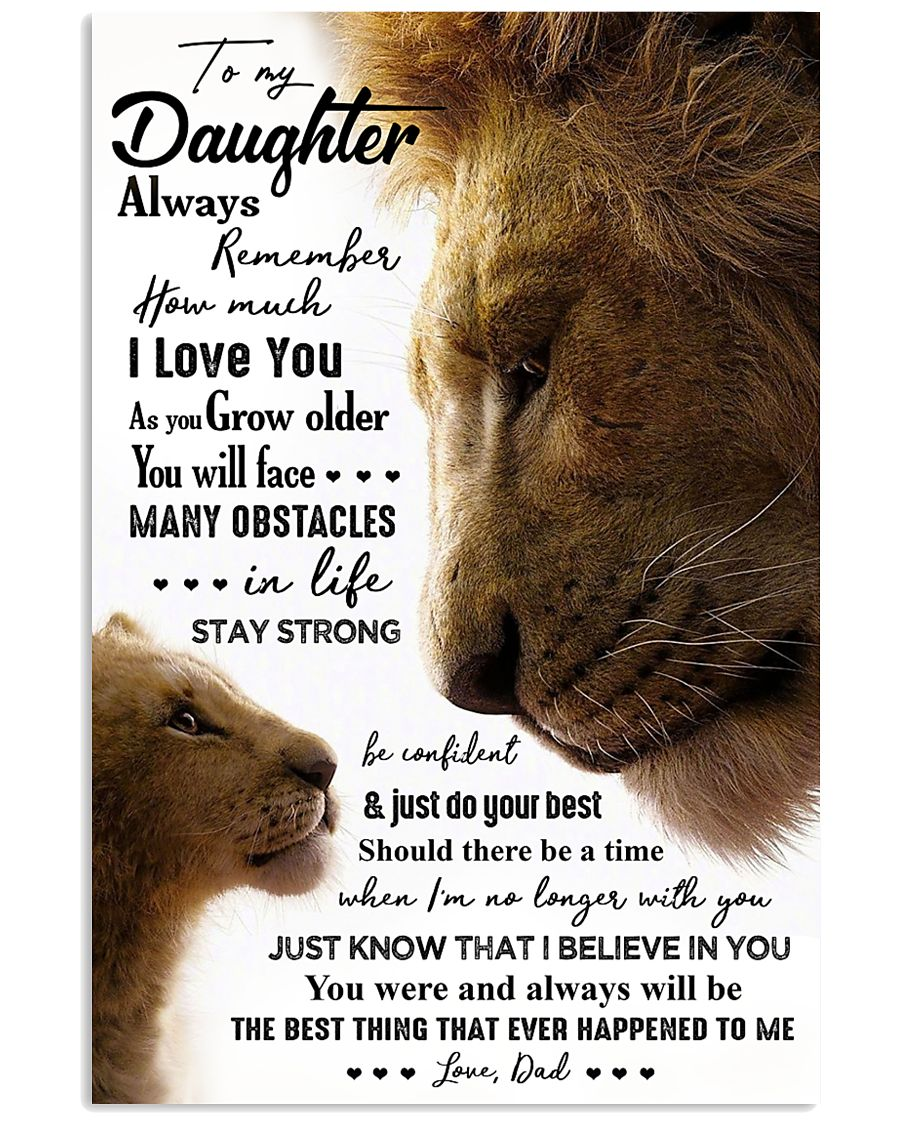 POSTER - TO MY DAUGHTER - LION - ALWAYS 16x24 Poster