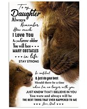 POSTER - TO MY DAUGHTER - LION - ALWAYS 16x24 Poster front