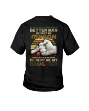 I asked God to make me a better man he sent me  Youth T-Shirt thumbnail