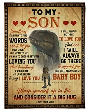 To My Son - Sometimes It's Hard To Find Words Fleece Blanket tile