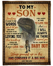 """To My Son - Sometimes It's Hard To Find Words Large Fleece Blanket - 60"""" x 80"""" front"""