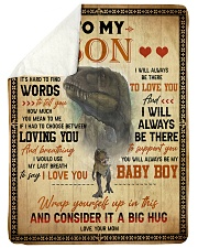 """To My Son - Sometimes It's Hard To Find Words Large Sherpa Fleece Blanket - 60"""" x 80"""" thumbnail"""