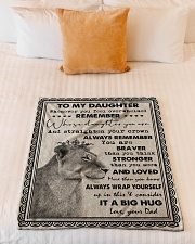 """Dad To Daughter - Whenever You Feel Overwhelmed  Small Fleece Blanket - 30"""" x 40"""" aos-coral-fleece-blanket-30x40-lifestyle-front-04"""