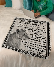 """Dad To Daughter - Whenever You Feel Overwhelmed  Small Fleece Blanket - 30"""" x 40"""" aos-coral-fleece-blanket-30x40-lifestyle-front-07"""