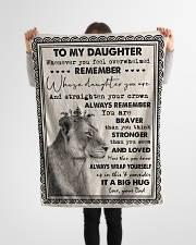 """Dad To Daughter - Whenever You Feel Overwhelmed  Small Fleece Blanket - 30"""" x 40"""" aos-coral-fleece-blanket-30x40-lifestyle-front-14"""