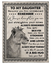"""Dad To Daughter - Whenever You Feel Overwhelmed  Small Fleece Blanket - 30"""" x 40"""" front"""