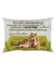 Grandma to Grandson - I Am The Storm - Pillowcase Rectangular Pillowcase back