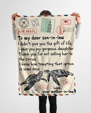 """Gifts for Son-in-law - Fleece Blanket  Small Fleece Blanket - 30"""" x 40"""" aos-coral-fleece-blanket-30x40-lifestyle-front-14"""