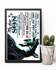 TO SON - MOM DRAGON - I CLOSED 16x24 Poster lifestyle-poster-8
