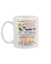 TO MY MOTHER-IN-LAW - SHAMROCK - THANK YOU Mug back