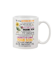 TO MY MOTHER-IN-LAW - SHAMROCK - THANK YOU Mug front