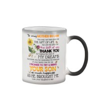TO MY MOTHER-IN-LAW - SHAMROCK - THANK YOU Color Changing Mug thumbnail