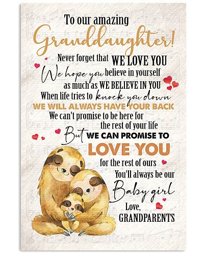TO MY GRANDDAUGHTER - FROM GRANDPARENTS