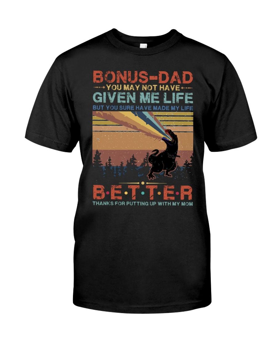 T-SHIRT - TO MY BONUS DAD - DINOSAUR Classic T-Shirt