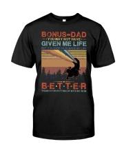 T-SHIRT - TO MY BONUS DAD - DINOSAUR Classic T-Shirt front
