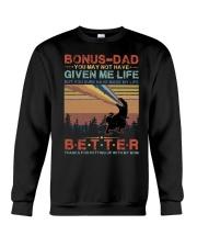 T-SHIRT - TO MY BONUS DAD - DINOSAUR Crewneck Sweatshirt thumbnail