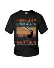 T-SHIRT - TO MY BONUS DAD - DINOSAUR Youth T-Shirt thumbnail