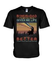T-SHIRT - TO MY BONUS DAD - DINOSAUR V-Neck T-Shirt thumbnail