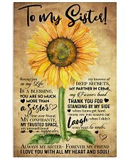 TO MY SISTER - SUNFLOWER - ALWAYS MY SISTER  16x24 Poster front