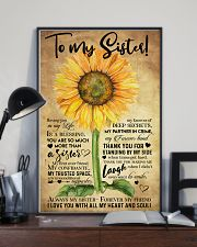 TO MY SISTER - SUNFLOWER - ALWAYS MY SISTER  16x24 Poster lifestyle-poster-2