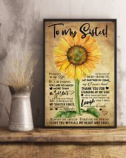 TO MY SISTER - SUNFLOWER - ALWAYS MY SISTER  16x24 Poster lifestyle-poster-3