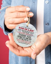 To My Son-in-law - Circus Circle ornament - single (porcelain) aos-circle-ornament-single-porcelain-lifestyles-01