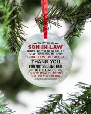 To My Son-in-law - Circus Circle ornament - single (porcelain) aos-circle-ornament-single-porcelain-lifestyles-07