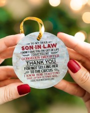 To My Son-in-law - Circus Circle ornament - single (porcelain) aos-circle-ornament-single-porcelain-lifestyles-08