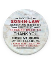 To My Son-in-law - Circus Circle ornament - single (porcelain) front