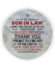 To My Son-in-law - Circus Circle ornament - single (wood) thumbnail