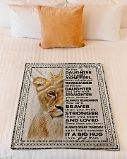 """Mom To Daughter - Whenever You Feel Overwhelmed  Small Fleece Blanket - 30"""" x 40"""" aos-coral-fleece-blanket-30x40-lifestyle-front-04"""