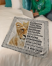 """Mom To Daughter - Whenever You Feel Overwhelmed  Small Fleece Blanket - 30"""" x 40"""" aos-coral-fleece-blanket-30x40-lifestyle-front-07"""