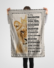 """Mom To Daughter - Whenever You Feel Overwhelmed  Small Fleece Blanket - 30"""" x 40"""" aos-coral-fleece-blanket-30x40-lifestyle-front-14"""