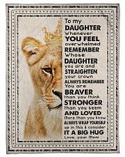 """Mom To Daughter - Whenever You Feel Overwhelmed  Small Fleece Blanket - 30"""" x 40"""" front"""