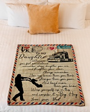 """Dad to Daughter Trucker - Whenever You Feel   Small Fleece Blanket - 30"""" x 40"""" aos-coral-fleece-blanket-30x40-lifestyle-front-04"""