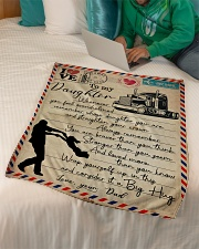 """Dad to Daughter Trucker - Whenever You Feel   Small Fleece Blanket - 30"""" x 40"""" aos-coral-fleece-blanket-30x40-lifestyle-front-07"""
