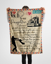 "Dad to Daughter Trucker - Whenever You Feel   Small Fleece Blanket - 30"" x 40"" aos-coral-fleece-blanket-30x40-lifestyle-front-14"