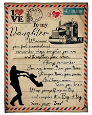 "Dad to Daughter Trucker - Whenever You Feel   Small Fleece Blanket - 30"" x 40"" front"