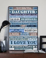 MOM AND DAD TO DAUGHTER 16x24 Poster lifestyle-poster-2
