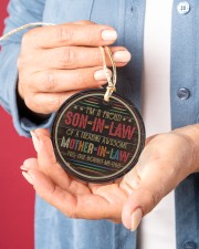 I'm A Proud Son-in-law of A Freaking Awesome  Circle ornament - single (porcelain) aos-circle-ornament-single-porcelain-lifestyles-01
