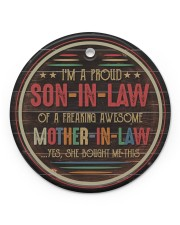 I'm A Proud Son-in-law of A Freaking Awesome  Circle ornament - single (porcelain) front