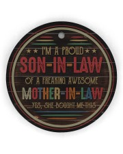 I'm A Proud Son-in-law of A Freaking Awesome  Circle ornament - single (wood) thumbnail