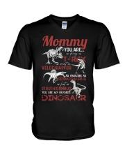 T-SHIRT - TO MOMMY - MY FAVORITE DINOSAUR V-Neck T-Shirt thumbnail