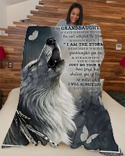 """Grandpa to Granddaughter - Just Do Your Best  Large Fleece Blanket - 60"""" x 80"""" aos-coral-fleece-blanket-60x80-lifestyle-front-04"""