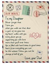 "Gift For Daughter - Fleece Blanket      Small Fleece Blanket - 30"" x 40"" front"