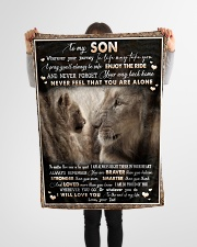 "To Son - Lion - Wherever Your Journey In Life May  Small Fleece Blanket - 30"" x 40"" aos-coral-fleece-blanket-30x40-lifestyle-front-14"