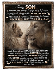 "To Son - Lion - Wherever Your Journey In Life May  Small Fleece Blanket - 30"" x 40"" front"