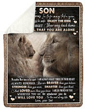 "To Son - Lion - Wherever Your Journey In Life May  Large Sherpa Fleece Blanket - 60"" x 80"" thumbnail"